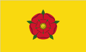 Lancashire Large Country Flag - 5' x 3'.